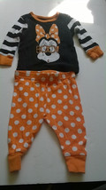 Disney Baby Minnie Mouse Halloween BOO Pajamas Infant Baby Size 6-9 Months  - $4.94