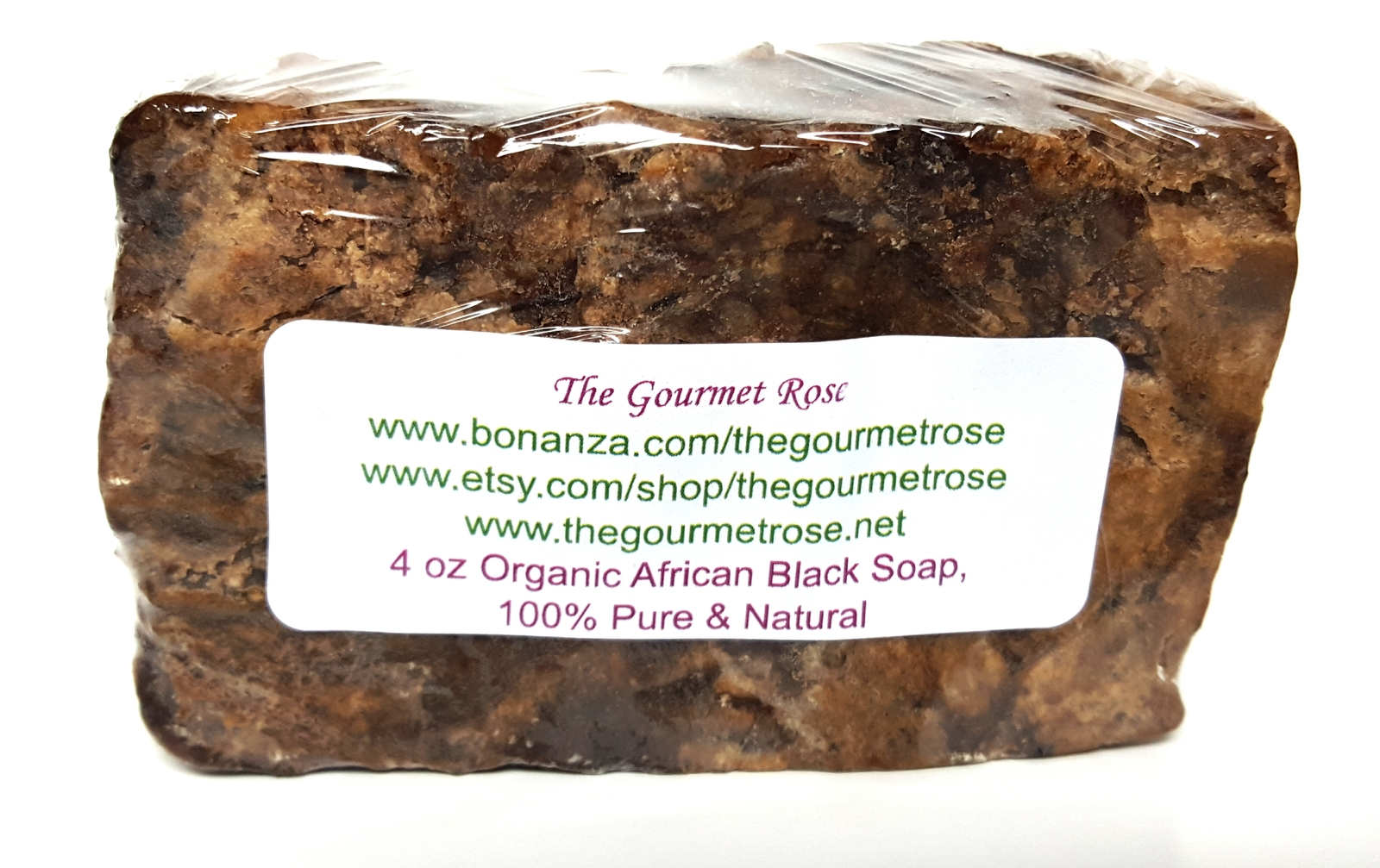Primary image for 4 oz ORGANIC AFRICAN BLACK SOAP Anago DUDU OSO Alata