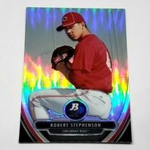 Mlb Robert Stephenson Reds 2013 Bowman Platinum Refractor Baseball #45 Nmnt - $1.25