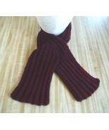 New Keyhole Scarf - Burgundy - Made in USA - Handmade Hand Crochet Knit - $9.75