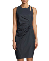 T Tahari Side-Ruched Buckle-Shoulder  SYILLA Sheath Dress NAVY MSRP$148.00 - $27.95