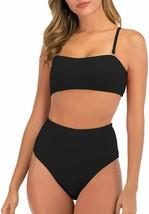 GRND Bandeau Sexy Bikini Set Push Up Swimwear Cheeky High Cut Swimsuit L... - $38.53+