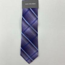 NWT Van Heusen Neck Tie Men's One Size Purple Blue Tonal Degrade 1005 Si... - $18.95