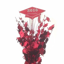 Personalized year & name Metallic red Graduation Balloon Weight Centerpiece - $16.82