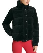 DKNY Sport Velour Puffer Jacket, Black, M $159 - $114.48