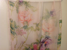 Peony Sheer Fabric Scarf, pastel colors of your choice image 13