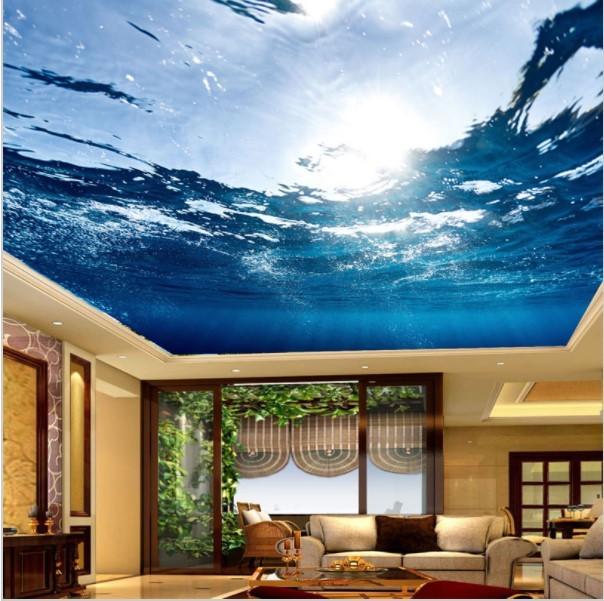 3D Ceiling Wallpaper Underwater Scene Custom Any Size