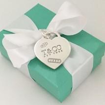 "1.25"" Tiffany & Co Silver Extra Large Jumbo 1837 Heart Tag Pendant Charm - $189.00"