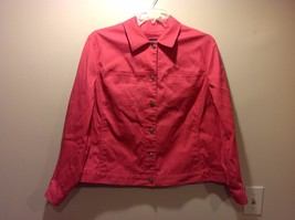 Ladies Hot Pink Button Up Corduroy Jacket by Jones New York Signature