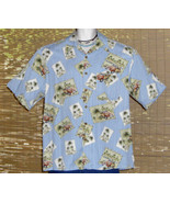 Banana Cabana Hawaiian Shirt Blue Woodies Design XL - $14.95