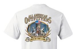 T-shirt Shirt Hound Dog Coon Hunter Raccoon Hunting End Of The Line - $12.99+