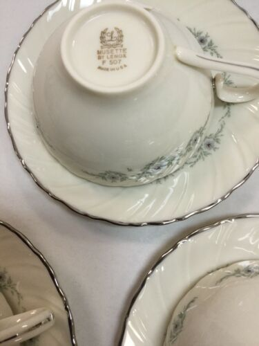 Musette By Lenox Pattern F507 3 Cup and 3 Saucer image 4
