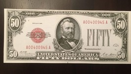 Fantasy Reproduction $50 1928 United States Note Ulysses Grant Capitol Currency - $2.96