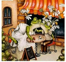 Diamond Painting Frog Animal Full Drill Round Square Rhinestone  Cartoon... - $9.89+