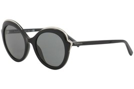 Tiffany & Co. Women's TF4155 8001/3F Black Fashion Round Sunglasses 54mm - $241.53