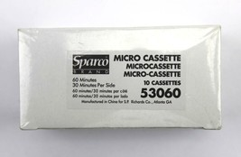 Sparco 53060 Dictating Mico Cassette Tape 60 Min/30 per side ~ Box of 10... - $18.76