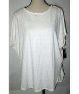 NWT $130 New Natori Zen Top M Womens Warm White Short Sleeves Soft Rayon... - $104.00
