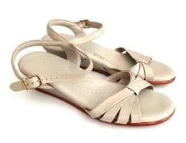 SAS Womens Size 6 Bone Patent Tripad Comfort Open Toe Sandals Wedge - $34.64