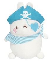 Molang Pirate Stuffed Animal Rabbit Plush Toy 8.6 inches 22cm (Blue)