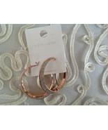 """New Look 2"""" Diameter Chunky Look Hoop Rose Gold Earrings New - $19.79"""