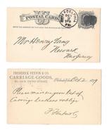 1879 UX5 Phila PA Fancy Cork Cancel Fenton Carriage Leather Henry Lang N... - $9.95