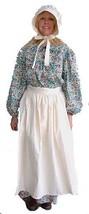 Pioneer Trek Costume Coton Naturel Tablier 1800s Colonial Amish Quaker P... - $27.82 CAD