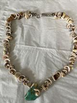 VINTAGE Shells & Turquoise Choker Necklace - $15.00