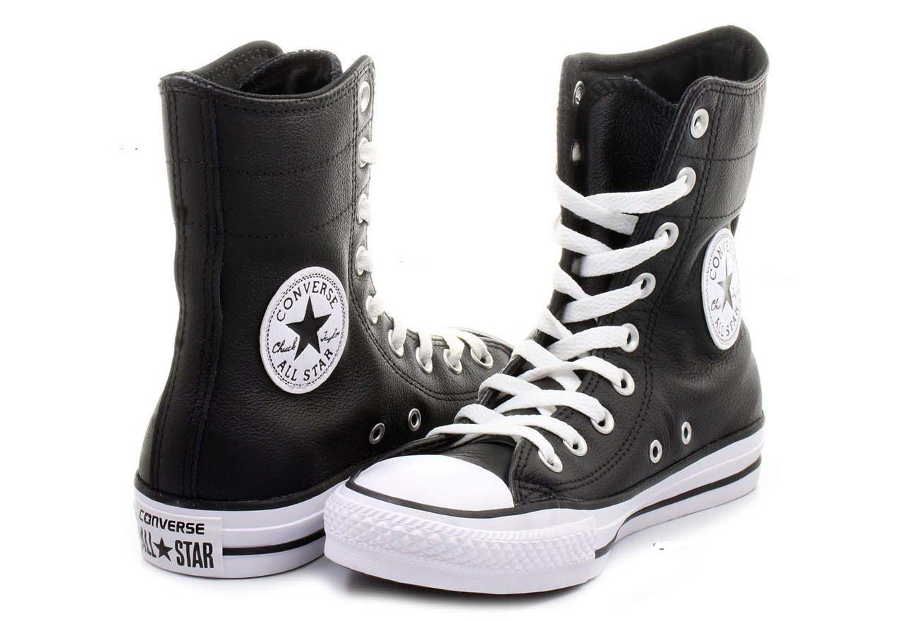 Primary image for Converse Black Leather Hi-Rise 9-Eye Ankle Calf Boots / Shoes Wms 5 NWOT DISC