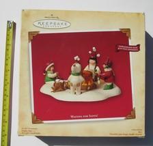 Hallmark Waiting for Santa Candle Holder Base Keepsake Christmas 4 Ornam... - $8.41