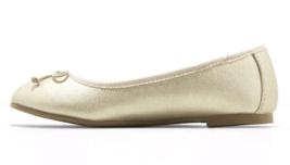 Cat & Jack Girls' Satin Gold Stacy Slip-On Ballet Flats image 2