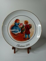 "Vtg Avon 1984 Collector Plate ""Christmas Memories"" Fourth Edition 9-1/4"" - $24.42"