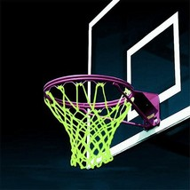 Glowing Basketball Net Dark Hoop Shoot Training Fluorescent Luminous Spo... - $14.83