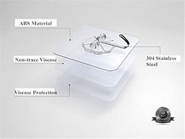 Self Adhesive Hooks Hangers - Transparent Wall Hooks |Heavy Duty 13 lb Sticky Wa image 7
