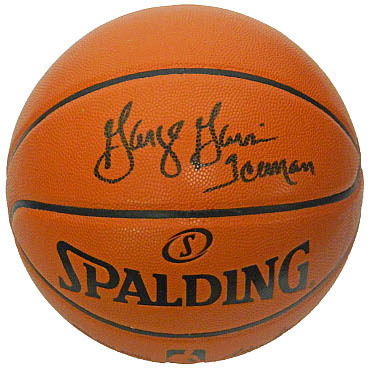 George Gervin signed Spalding NBA Game Series Replica Indoor/Outdoor Basketball