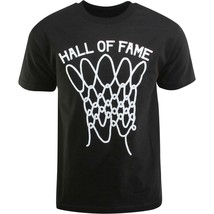 Hall of Fame HOF Mens Black Nothing But Net Basketball Shot T-Shirt NWT