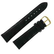 Hadley Roma MS874 20mm Black Embossed Leather Mens Watch Band SHIPSFREE - $12.97