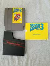 Nintendo NES SUPER MARIO BROS. 3 Game Cartridge Manual Dust Sleeve Teste... - $22.95