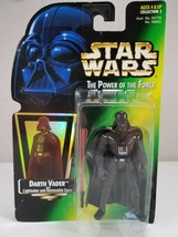 Star Wars Power Of The Force - Darth Vader Short Saber Green Card - Kenner 1997 - $10.00