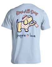 Puppie Love Rescue Dog Adult Unisex Short Sleeve Cotton Tee,Rose All Day Pup