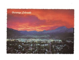 DURANGO COLORADO AT SUNSET FORT LEWIS COLLEGE AERIAL VIEW PETLEY STUDIOS PC - $7.43