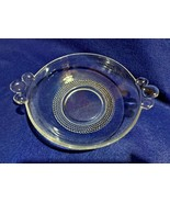 """Duncan and Miller teardrop pattern bowl double handle 8 3/8"""" vintage cry... - $19.79"""