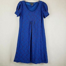 Jessica Howard Womens Dress Size 8 Blue Floral Lace Lined Fit & Flare Ca... - €10,75 EUR