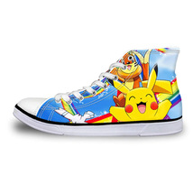 Pokemon Anime Kid's High Top Vulcanized Canvas Shoes Sneakers - $49.99