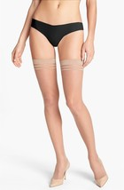Alice + Olivia by Pretty Polly Run Resistant Thigh High Tights Nude M/L ... - €13,29 EUR
