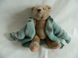 "Vintage 1982 Gund 17"" Bear with Articulating Legs & homemade Sweater - $19.99"