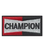 """CHAMPION IRON ON PATCH 3.5"""" Spark Plug Logo Race Car Jacket Embroidered ... - $5.99"""