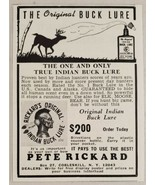 1968 Print Ad Pete Rickard True Indian Buck Lure for Hunting Deer Cobles... - $9.28