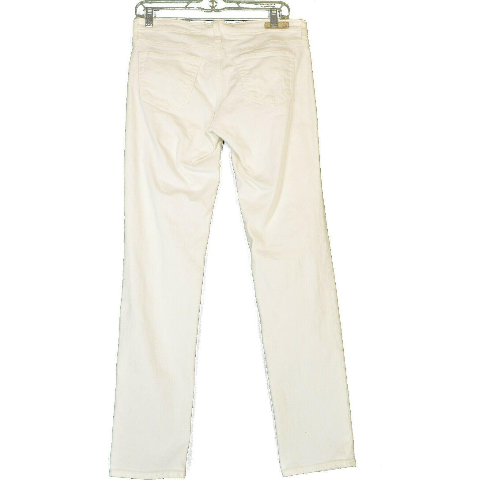 AG Adriano Goldschmied jeans 29 x 31 Stilt cigarette leg White thick EUCUSA image 2