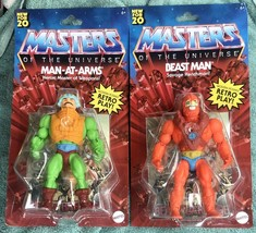 Masters Of The Universe Origins Beast Man & Man-At-Arm Set 2020 MOTU Fig... - $49.45