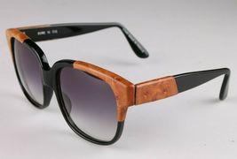 Vintage Women's Black Emmanuelle Khahn Ostrich Leather 8080 16 OS Sunglasses image 3